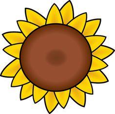 free printable sunflower stencils sunflower clip art vector clip rh pinterest com sunflower border clip art free free clipart sunflower pictures