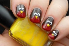 Advent Tutorial: Robin Nail Art