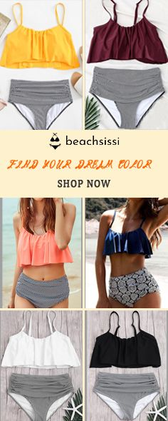 Make a splash with beachsissi's range of bathing suits and bikinis for women. Browse for one and two-piece swimsuits in flattering fits and on-trend colors. Two Piece Swimwear, Cute Swimsuits, Fashion Stylist, Shoulder Straps, Women Lingerie, Overlay, Bathing Suits, High Waist, Stylists