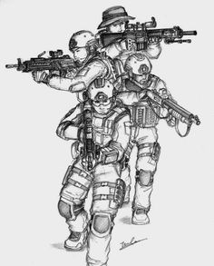 Navy seal coloring pages A second group of Scouts and Raiders, code-named Special Service Unit No. was established on 7 July as a joint and combined operations force. Army Drawing, Soldier Drawing, Apocalypse Art, Military Drawings, Military Special Forces, Red Team, Military Pictures, Arte Pop, Panzer