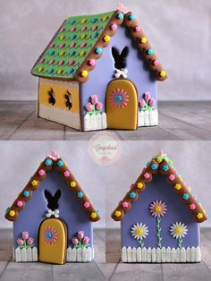A Holiday Gingerbread village would be so cute! Christmas Gingerbread House, Gingerbread Cookies, Gingerbread Houses, Easter Cookies, Easter Treats, Cookie House, Royal Icing Cookies, Holiday Desserts, Cookie Decorating