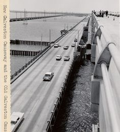 """1961-This photo was labelled as the """"new"""" causeway high clearance bridge. The original drawbridge facility, which can be seen in this photo, was later demolished."""