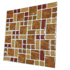 Tilewoo Tile Sticker High Quality Peel and Stick Wall Tile in Square Mintgrey, Pack of 10 * You can get more details by clicking on the image.