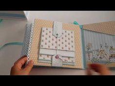 Enkelt m god plass til vanlige bilder. Fin lukking for waterfall Mini Albums, Mini Scrapbook Albums, Baby Scrapbook, Album Scrap Boda, Mini Album Tutorial, Album Design, Journal Covers, Craft Videos, Craft Gifts