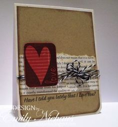Pretty #card with #heart