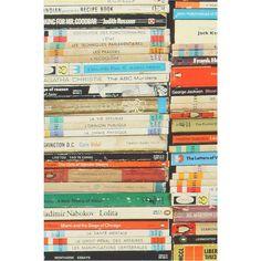 Anthropologie Stacked Paperback Wallpaper (555 BRL) liked on ...
