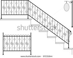 Find Wrought Iron Stairs Gate Picket Signage stock images in HD and millions of other royalty-free stock photos, illustrations and vectors in the Shutterstock collection. Thousands of new, high-quality pictures added every day. Wrought Iron Stair Railing, Gates And Railings, Stair Gate, Stair Railing Design, Steel Railing, Stair Handrail, Staircase Railings, Steel Stairs, Steel Bed Design