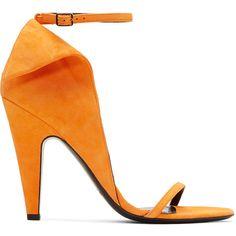 b8c7880205c Calvin Klein 205W39NYC Orange Suede Carmin Sandals ( 1