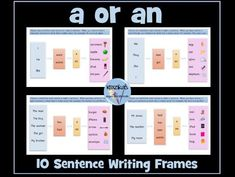 'a' or 'an' Sentence Writing Frames Primary English, Powerpoint Lesson, English Resources, Sentence Writing, Primary Classroom, Teaching Resources, Sentences, Free Printables, Improve Yourself