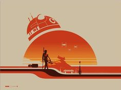 The 'Star Wars' inspired 'Rey (Jakku)' and 'Jyn Erso (Scarif)' by Justin Van Genderen, new prints from Galerie F. x 3 colour screen prints. On sale April at from Galerie F's Booth. Star Wars Film, Star Wars Fan Art, Star Wars Poster, Decoration Star Wars, Images Star Wars, Star Wars Prints, Fanart, Star Wars Tattoo, Episode Vii