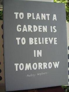 From the words of Audrey Hepburn: