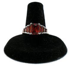 Spanish Sphalerite Faux Emerald Cut Ring Sphalerite by LauralCreek