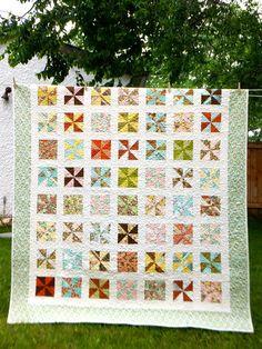Pinwheel Wedding Quilt @Kate Mazur Przybylo