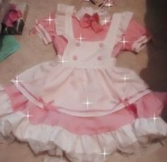 —☆ kakyoinnoriiaki Kawaii Fashion, Lolita Fashion, Pink Aesthetic, Aesthetic Clothes, Babydoll, Estilo Lolita, Mode Chanel, Maid Outfit, Kawaii Clothes