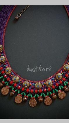 Textile Jewelry, Jewelry Art, Bead Crochet, Button, Beads, Bracelets, Handmade, Necklaces, Bangle Bracelets