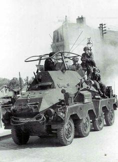 A SdKfz 263 8 rad armored car
