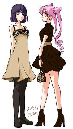 Teenage Hotaru & Rini (Love Rini's outfit!)