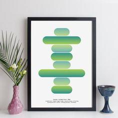 geometric music print / favourite album wall art - geometric art created from the track times of any album. print or canvas. #elevencorners #musicposter #classicalbum #vinyl