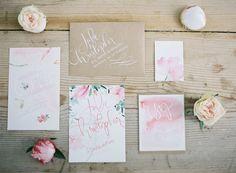 #calligraphy, #watercolor  Photography: Greg Finck - gregfinck.com  Read More: http://www.stylemepretty.com/destination-weddings/2014/11/07/provencal-bohemian-garden-wedding-inspiration/