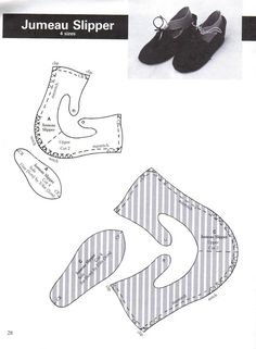 Jumeau Slipper pattern - I know this is off topic but how cute to make slippers for the family with the cutter
