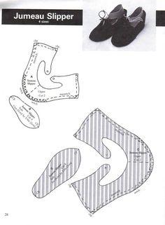 Jumeau Slipper pattern