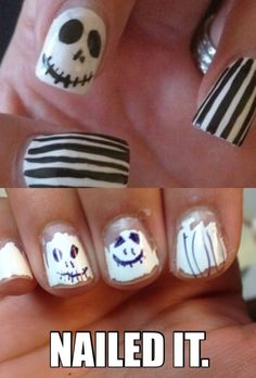 Nailed it. #jackskellingtonnails nails