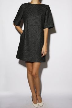 Hampden Clothing - Dark Navy Gray Dress, $550.00 (http://shop.hampdenclothing.com/dark-navy-gray-dress/) @Raquel Gomez & bone
