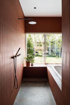 Drop In Tub, Masonry Construction, Brick Cottage, Timber Ceiling, Wooden Building Blocks, Pergola, Australian Architecture, Architecture Awards, Architecture Photo