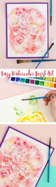 easy watercolor art