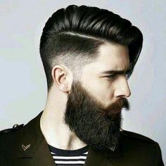 degradé-progressif-homme-sidecut-ceveux-longs-dessus-barbe-longue