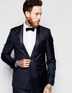 ASOS Slim Tuxedo Suit Jacket In 100% Wool