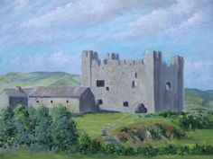 Oil Painting, featuring my local 13th Century Royal Castle, at Greencastle, County Down.