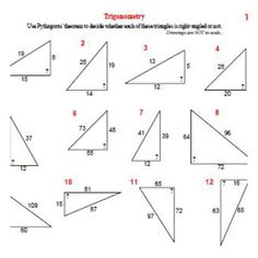 Trigonometric Ratios Worksheets | Math-Aids.Com | Pinterest ...
