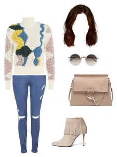 """""""Untitled #1010"""" by aracely-munoz on Polyvore featuring Topshop, Peter Pilotto, Chloé, Linda Farrow and Stuart Weitzman"""