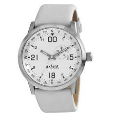 Reloj Brújula Axcent of Scandinavia modelo M10. Correa de piel blanca con cierre de hebilla.   http://www.tutunca.es/reloj-unisex-deportivo-blanco