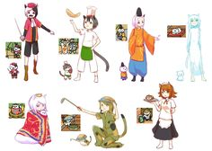 Nekoatsume Gijinka by Souyuu221 on DeviantArt