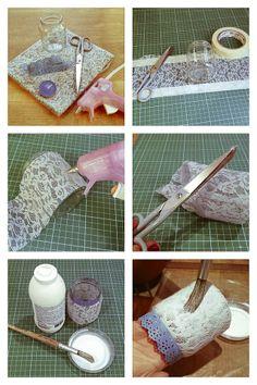 Casa de Colorir: Aconchego em potinho (como fazer luminárias com potes de vidro)