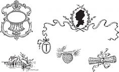 Free Clipart - Vintage Victorian Love Letter Decorative Frame & Cameo Silhouette