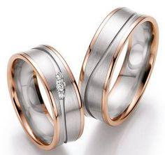 Resultado de imagem para alianças de casamento de ouro 18k amarelo e rose
