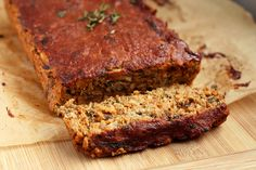 "Gluten-free + Vegan Lentil ""Meat"" Loaf 