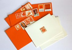 Edelweiss Post vintage stamp stationery | How About Orange - use for altered book inserts ...