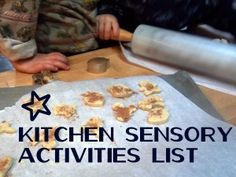The kitchen offers a wide variety of preschool sensory play options.