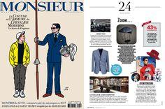 Parution de notre chapeau dans le #MonsieurMagazine #look #style #hat #press