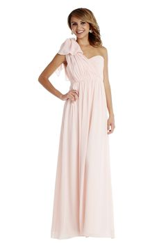 Jenny Yoo 'Aidan Dress' in Petal Pink. This long convertible chiffon gown has long front and back panels that can be styled into more than 15 unique looks. Discover more bridesmaid dresses to rent at vowtobechic.com