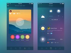 Hi friends! What's up? Today I want to share with you a couple of screens of small social network app. I made its redesign not long ago: so here is the photo gallery and timeline screens. On the ga...