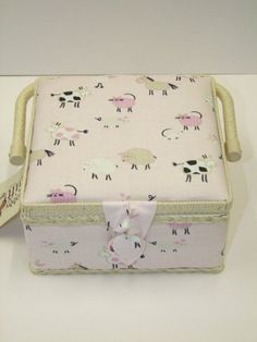 Sewing Box With Handle Farm Animals Hobby Craft Classic Range GB1083 Find this #sewing box at Lenarow Limited's ebay store or instore at Wools & Crafts 169 Blackstock Rd London N4 2JS tel 020 7359 1274