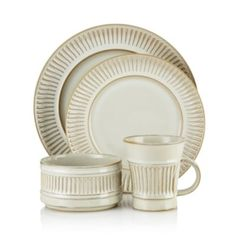 Dansk Flamestone Cream Dinnerware Collection- 100% Bloomingdale's…