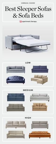 The Top 15 Best Sleeper Sofas & Sofa Beds | the technology around sleeper sofas has gotten better over the years. Forget what you always knew about vintage sofa beds, because you or a guest can actually can get a good night's sleep and have a stylish pull-out sofa these days.