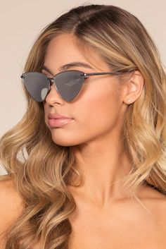 Ain't Kitten Around Sunglasses - Silver by Priceless