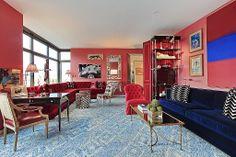 Miles Redd-Designed Pad at 1 Morton Square Seeks Million Dollars Living Room Furniture Layout, Living Room Designs, Living Spaces, Living Rooms, Eclectic Decor, Beautiful Interiors, Decoration, Interior Design, West Village